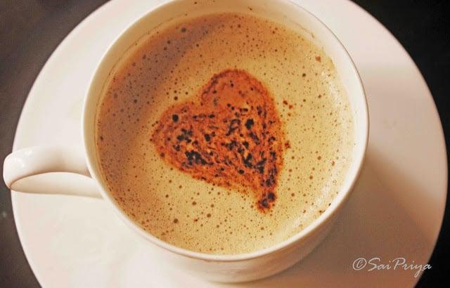 Valentine cappuccino !!