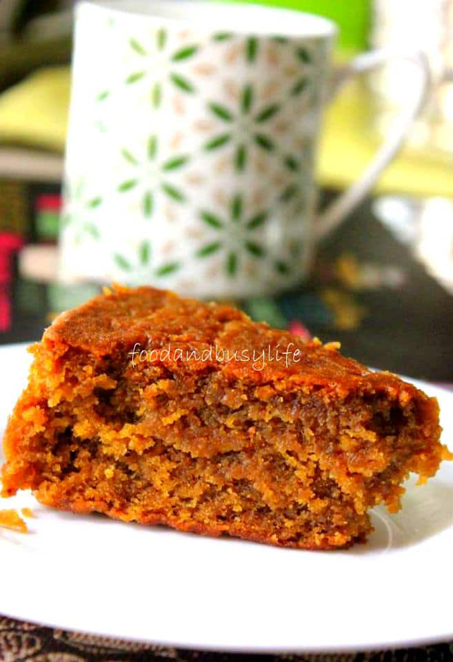 Wheat Jaggery Cake – A vegan version